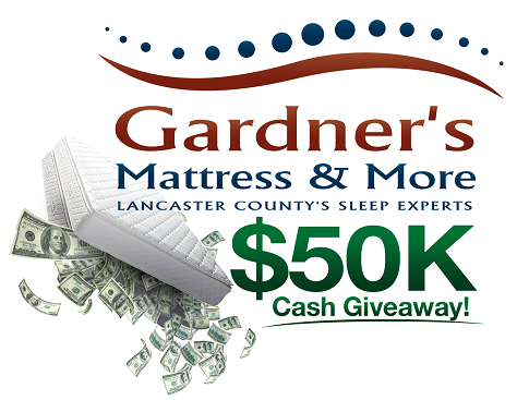 Gardner's Mattress & More Cash Giveaway Contest