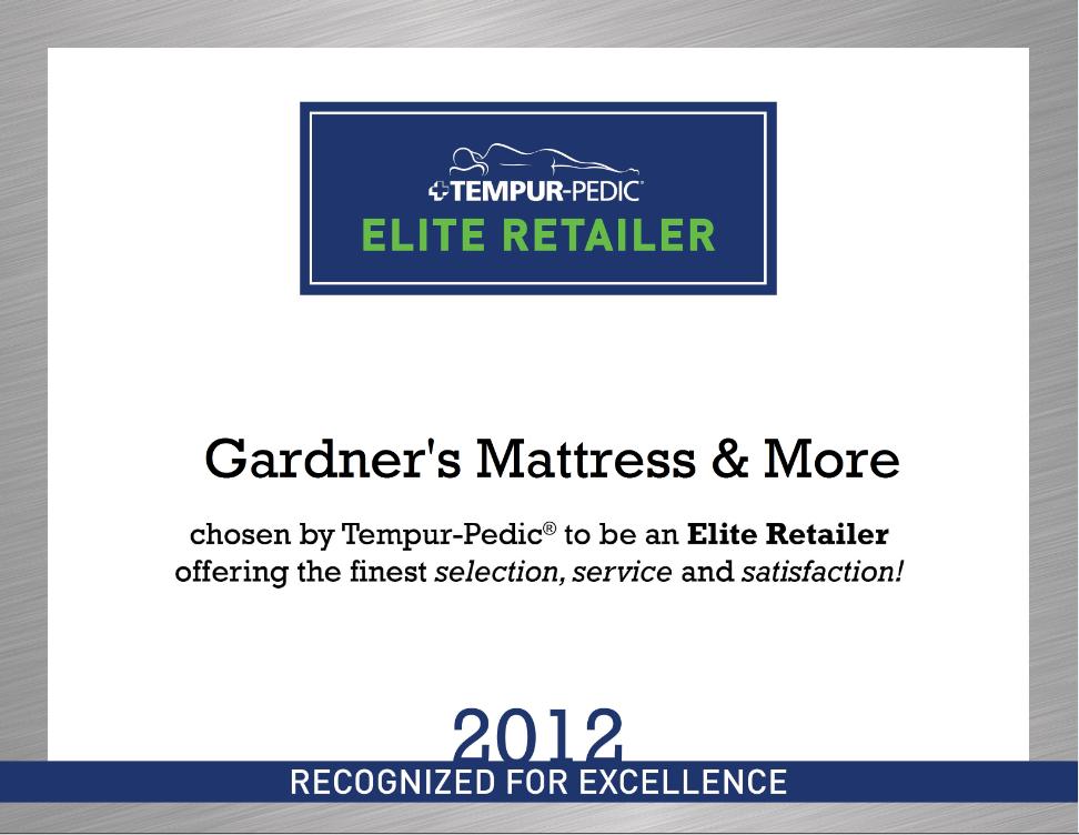 Gardner S Mattress Amp More Is A Tempur Pedic Elite Retailer