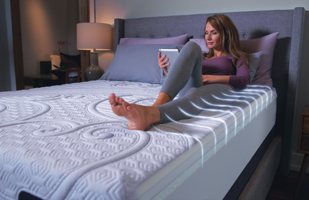 Breathable Design Woman on Bed