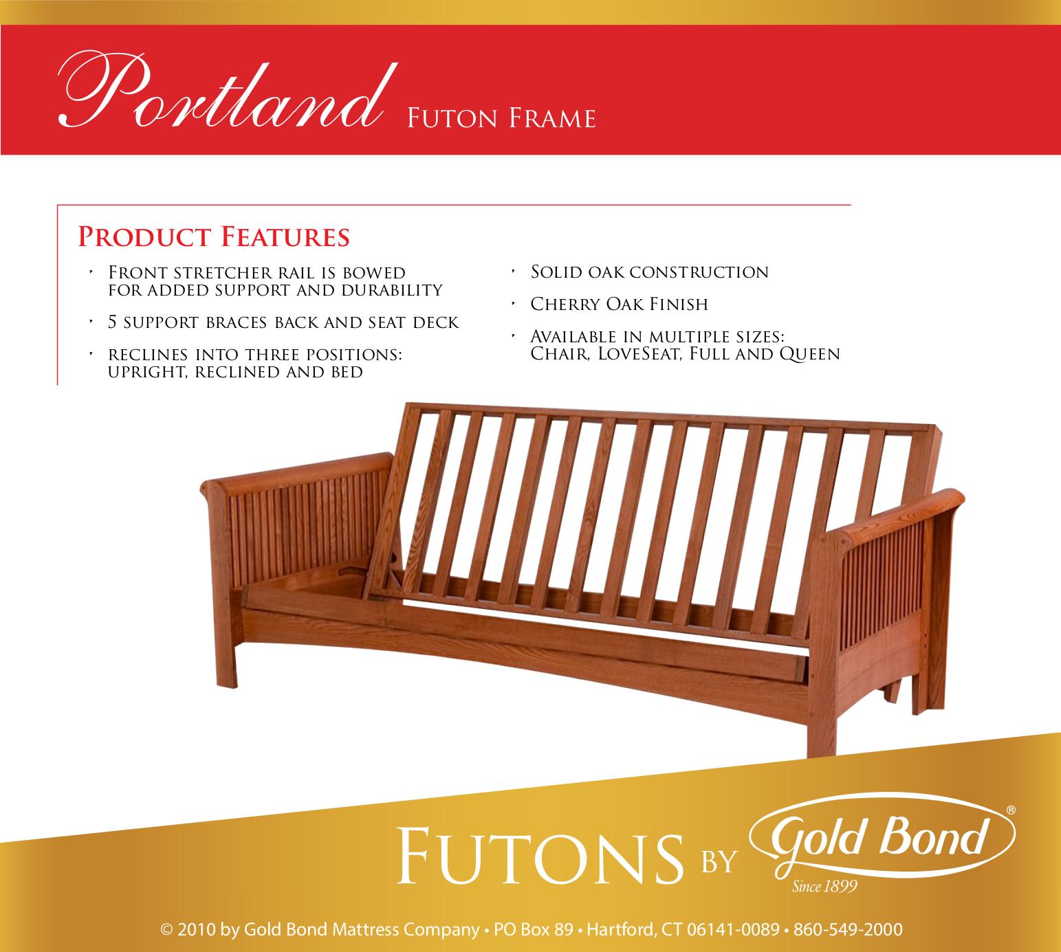 New Spec Card Futon Frames Portland1